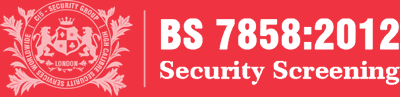BS 7858 Staff Screening Standard Badge